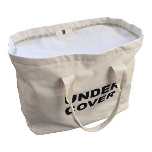Canvas tas under cover wit