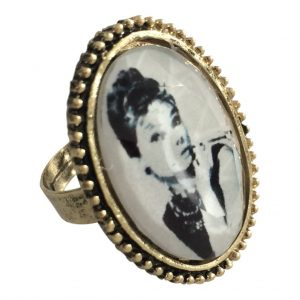 Woman stone ring