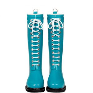 Long Rubberboot Azuurblauw
